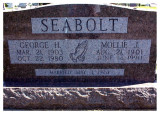 George was the eldest of three children born to, Charles Elihu Seabolt & his wife, Bertha Jean Marincia [COATNEY] Seabolt, on 21 March 1903 in Nowata, Nowata County, Oklahoma. On 01 May 1924 in Nowata, he married, Molly J. Schaffer, and together this couple would share two known children. George died in Nowata, Nowata, OK, on 27 October 1980 and is buried in Nowata Memorial Cemetery, Nowata, Nowata County, Oklahoma. This picture was taken from Findagrave.com.