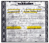 Above is the MARRIAGES page, from a Bible page, belonging to, Eliza Jane [PHILLIPS] Coatney, Wells. This page was given to me by my cousin, Linda Vaughn, in Texas.