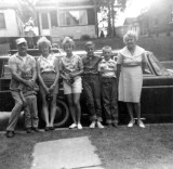 This shot was taken around 1965. From left to right we can see, Harold Everette Robinson, David Arthur, JoAnne Esther, Sandra Lee, Roy Raymond, Harold Everett Robinson II & Lucille Alena [Mattson] Robinson. This shot was donated by Harold's daughter, Amy Lynn [Robinson] Piar.