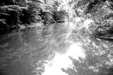 Lake at Mill in B&W