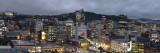 Wellington City on a gloomy evening