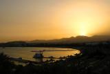 Sun setting over Naama Bay