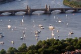 Longfellow Bridge and Sailboats in Boston