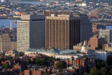 Aerial Photo of Boston's Financial District and Massachusetts State House