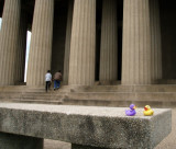 On the steps of the only life-size replica of the Parthenon, Centennial Park, Nashville TN