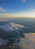 Mt Hood in Oregon from the air.