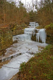 Nameless water/ice Fall in the Kentucky River Palisades
