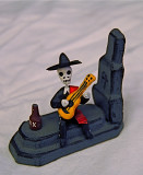 Musical Graveyard Calavera with Tequila