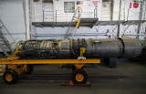 Aircraft Engine on Hangar Deck