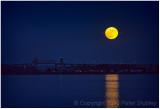 Moonrise over Lachine.