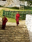Monks in the Paro Dzong