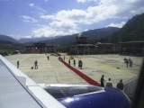 Arrival in Paro, Bhutan