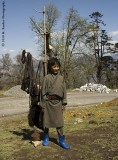 Young yak herder