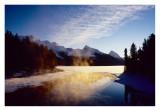 sunrise Maligne lake Jasper