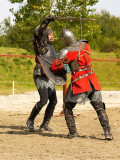 2008-08-17 Dark and red knights fight