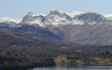 Langdale Pikes from above Windermere