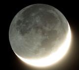 Lune cendrée du 04 août 2008