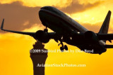 2009 - American Airlines B737-823 taking off at sunset aviation stock photo #3264