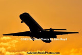 2009 - American Eagle Embraer EMB-135KL N849AE takeoff at sunset aviation stock photo #3273