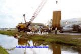 1976 - Air Trine CV-880 N5865 overrun accident at Miami International Airport aviation stock photo