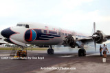 2009 - #2 engine of the Historical Flight Foundation's DC-7B N836D running for the first time since 2004 stock photo #1938