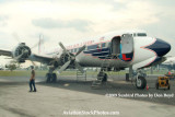 2009 - #4 engine of the Historical Flight Foundation's DC-7B N836D running for the first time since 2004 stock photo #1943