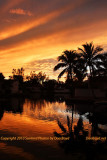 Sunset over Lake Mary in Miami Lakes,  Florida stock photo #0250