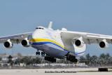 Antonov Design Bureau An-225 Mriya UR-82060 landing on runway 26L at MIA aviation stock photo #5364