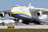 Antonov Design Bureau An-225 Mriya UR-82060 landing on runway 26L at MIA aviation stock photo #5365
