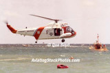 Early 1980's - USCG HH-52A #CG-1419 hoisting CG Reserve air crew members