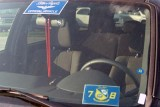 Blue Angels vehicle stickers on rental SUV's for the pilots stock photo #0097