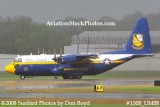 USMC Blue Angels Fat Albert C-130T #164763 at the Great Tennessee Air Show practice show at Smyrna aviation stock photo #1508