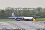 USMC Blue Angels Fat Albert C-130T #164763 at the Great Tennessee Air Show practice show at Smyrna aviation stock photo #1510