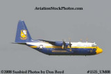 USMC Blue Angels Fat Albert C-130T #164763 at the Great Tennessee Air Show practice show at Smyrna aviation stock photo #1525