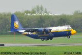 USMC Blue Angels Fat Albert C-130T #164763 at the Great Tennessee Air Show practice show at Smyrna aviation stock photo #1533