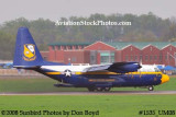 USMC Blue Angels Fat Albert C-130T #164763 at the Great Tennessee Air Show practice show at Smyrna aviation stock photo #1535