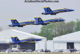 The Blue Angels taking off at the 2008 Great Tennessee Air Show practice show at Smyrna aviation stock photo #1539