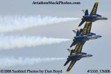 The Blue Angels at the 2008 Great Tennessee Air Show practice show at Smyrna aviation stock photo #1550