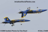 The Blue Angels #5 and #6 at the 2008 Great Tennessee Air Show practice show at Smyrna aviation stock photo #1564