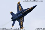 A Blue Angels solo at the 2008 Great Tennessee Air Show practice show at Smyrna aviation stock photo #1596