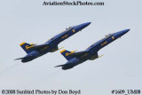 The Blue Angels #5 and #6 at the 2008 Great Tennessee Air Show practice show at Smyrna aviation stock photo #1609