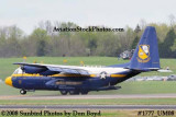 USMC Blue Angels Fat Albert C-130T #164763 at the Great Tennessee Air Show at Smyrna aviation stock photo #1777