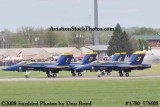 The Blue Angels takeoff at the 2008 Great Tennessee Air Show at Smyrna aviation stock photo #1780