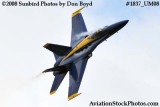 One of the Blue Angels at the 2008 Great Tennessee Air Show at Smyrna aviation stock photo #1837