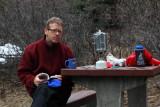 Moi, Icefields Campground, Fixing Coffee  (C052110-0200adj.jpg)
