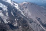 Shasta:  Bolam (L), Whitney Glaciers, & Shastina, View SW  (Shasta082907-_127.jpg)