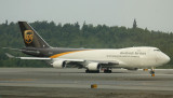 UPS 747-400F ready for take off, ANC, Aug 2008