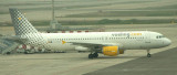 Vueling A-320 taxi to its gate at BCN