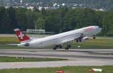 Swiss A-340-300 departing ZRH RWY 10