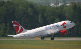 Czech Airlines A-319 taking off from ZRH RWY 10